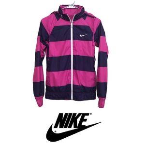 Nike Stripe Reversible Windbreaker Jacket Size XS